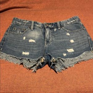 Free people distressed shorts size 26